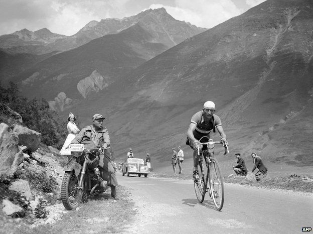 Gino Bartali in 1938 Tour de France