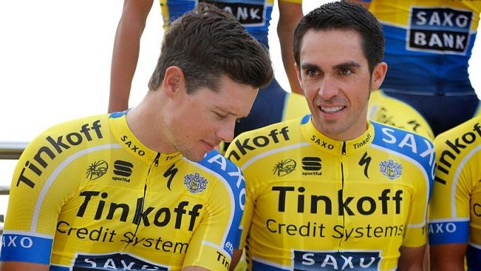Nicolas Roche and Alberto Contador