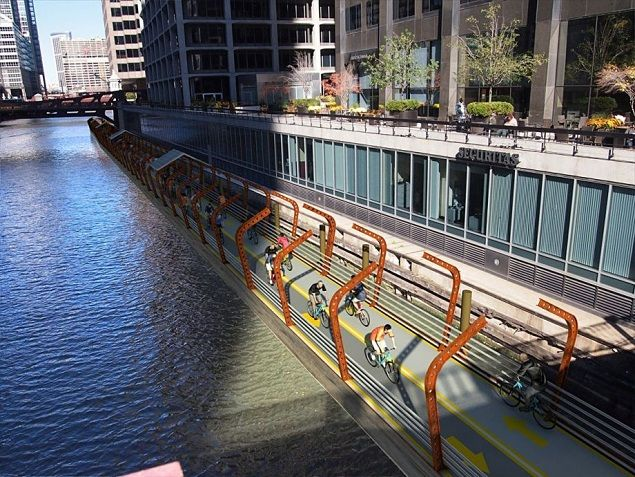 floating bike path chicago
