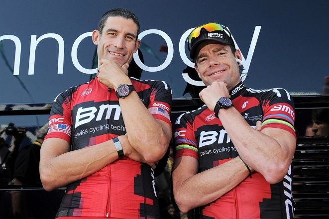 cadel evans and george hincapie