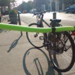 Cyclist pool noodle