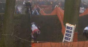 Van der Poel crash