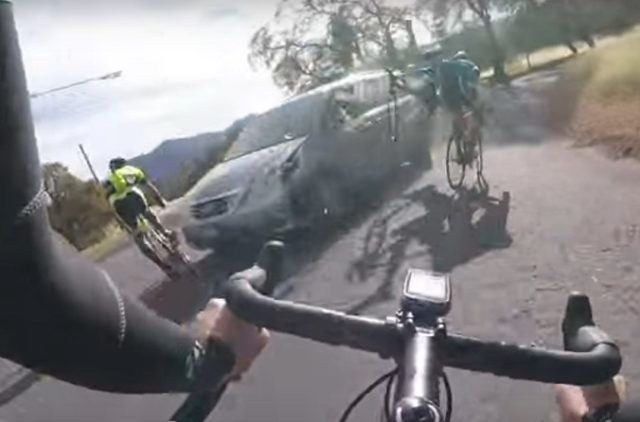 driver hits cyclists