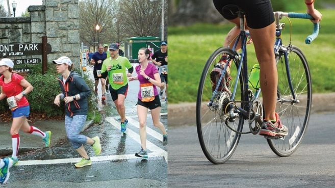 Cycling vs running