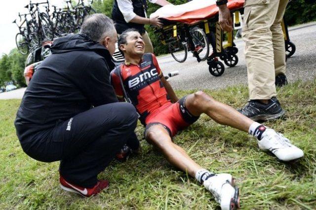 Darwin Atapuma crash vuelta a san juan 2017