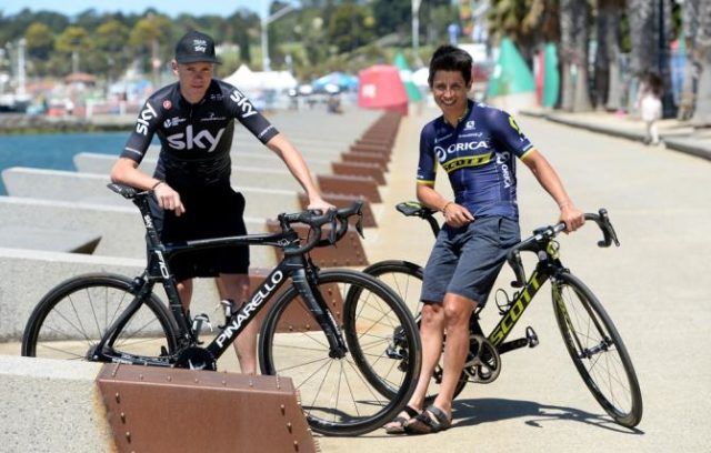 Chris Froome and Esteban Chaves