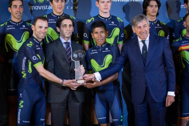Nairo Quintana and Alejadnro Valverde