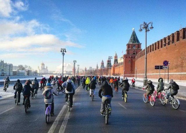 Moscow bike parade 2017