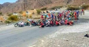 Tour of Oman stage 5 crash