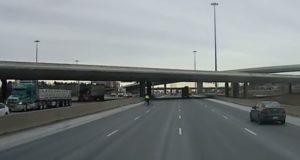 cyclist cuts motorway