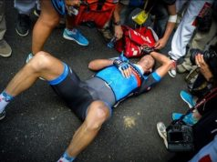 exhausted cyclist