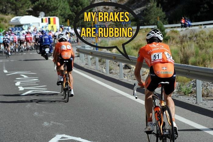 cyclist dropped