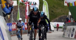 Geraint Thomas and Mikel Landa