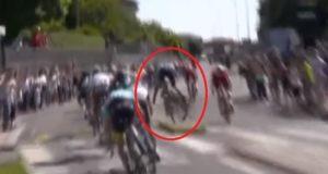 Tanel Kangert crash stage 15 giro 2017