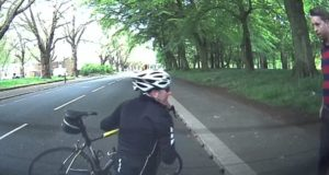 cyclist crash into parked car
