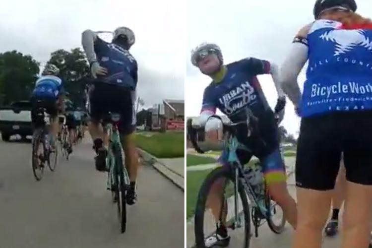 cyclist shot