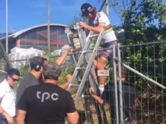 Peter Sagan fence climb tour de suisse