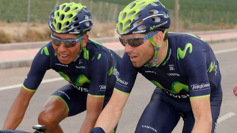 Quintana and Valverde tour de france 2017