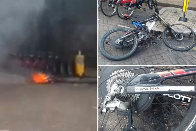 electric bike burns