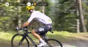 Michal Kwiatkowski stops col d'izoard