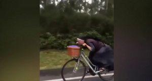 nun ride bicycle