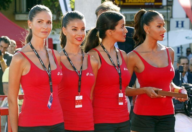 podium girls Vuelta