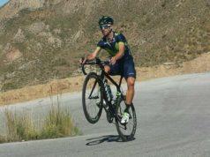 wheelie Alejandro Valverde