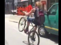 wheelie cyclist toronto