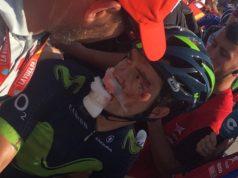 Carlos Betancur vuelta 2017 crash