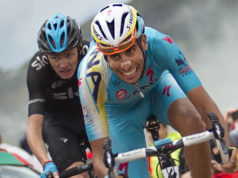 Fabio Aru and Chris Froome