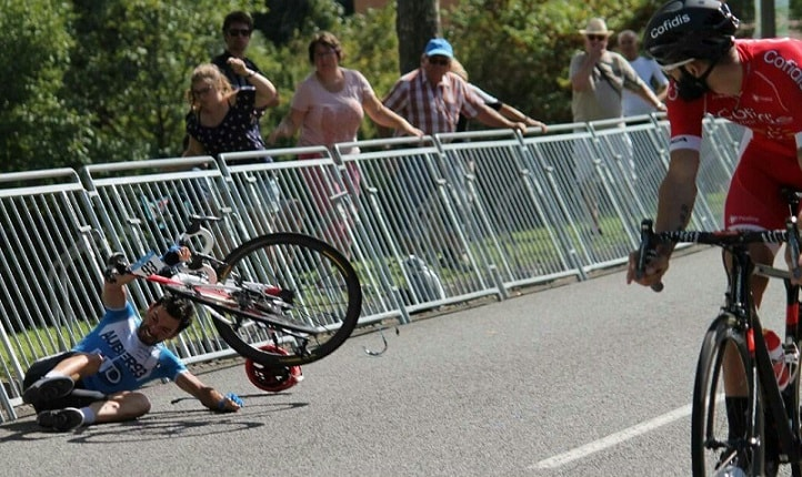 Nacer Bouhanni crash