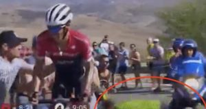 Vuelta spectator motorbike crash