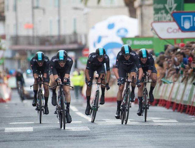 Team Sky team time trial vuelta