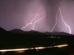 cyclist killed by lightning