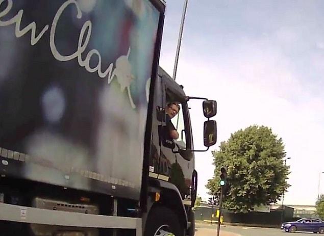 lorry driver london cyclist