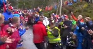 Bergen spectator body check