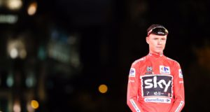Chris Froome red jersey vuelta 2017