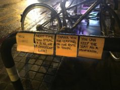 CYCLIST STEALS BACK OWN BIKE