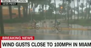 Miami cyclists hurricane Irma