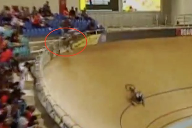 Pan American Track Championships crash into crowd