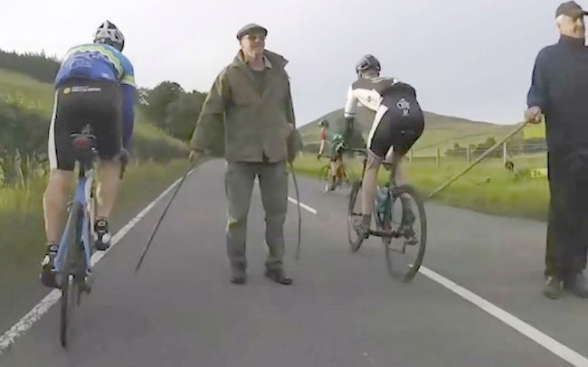 cyclistst attacked in scotland