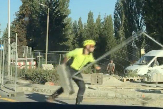 angry polish cyclist