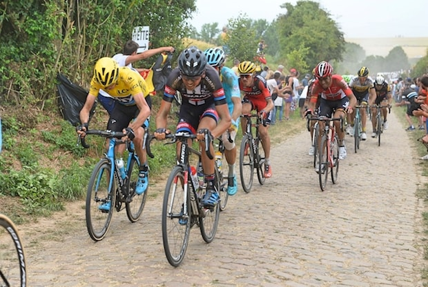 Tour de France cobblestones