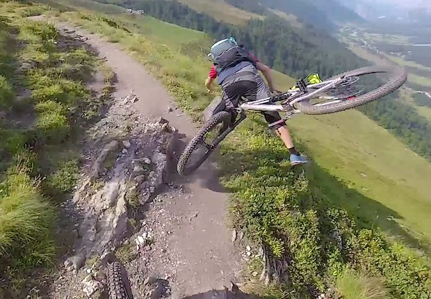 mountain biker fall