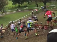 muddy cyclocross race