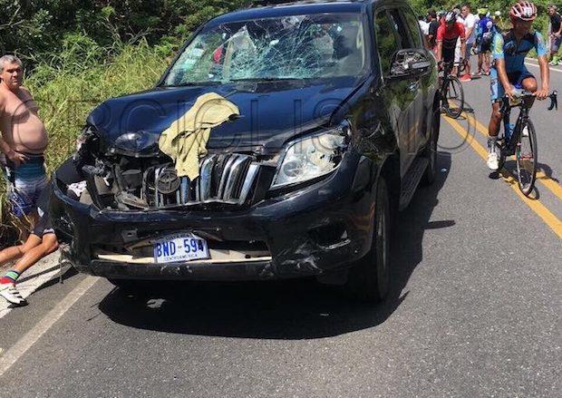Clásica La Anexion Cemex Nicoya collision