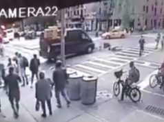 driver chases and rams bike thief