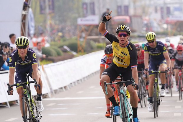 Dylan Groenewegen wins stage 5 guangxi