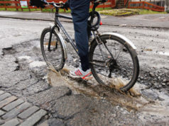 pothole vibrations study cyclists