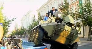vilnius bike lane tank